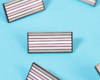 The Demigirl Flag Enamel Pin