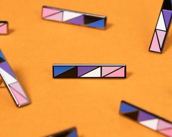 The Genderfluid Bar Enamel Pin