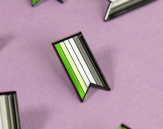 The Aromantic Ribbon Enamel Pin