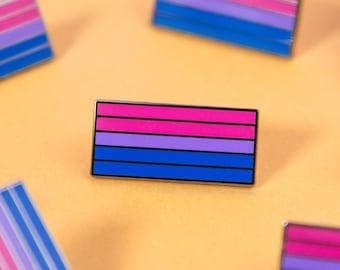 The Bisexual Flag Enamel Pin