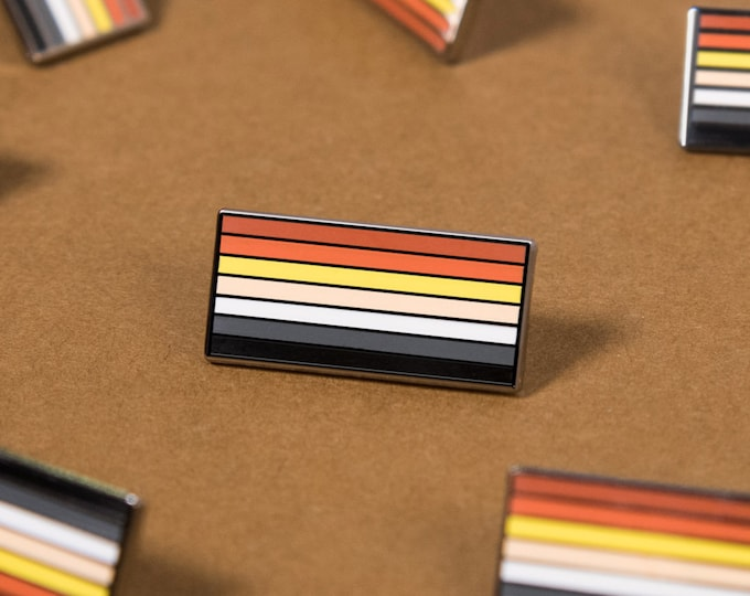 The Bear Pride Flag Enamel Pin
