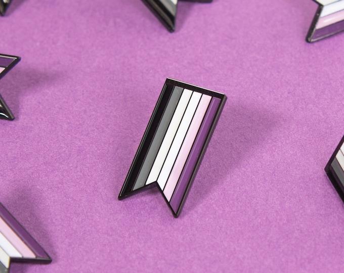 The Asexual Ribbon Enamel Pin