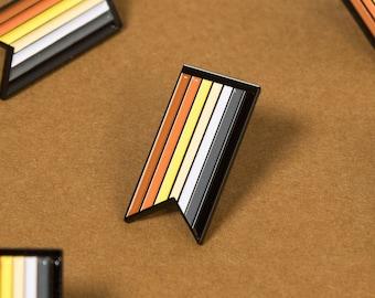 The Bear Pride Ribbon Enamel Pin