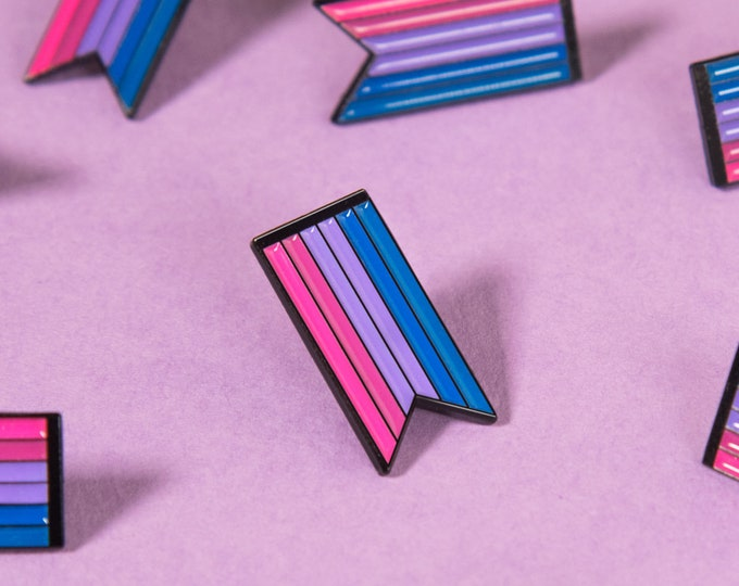 The Bisexual Ribbon Enamel Pin