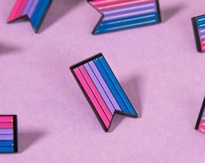 The Bisexual Ribbon Enamel Pin