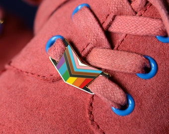 The Progress Rainbow Flag Shoelace Locks