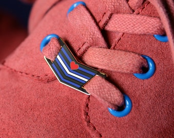 The Leather Pride Flag Shoelace Locks
