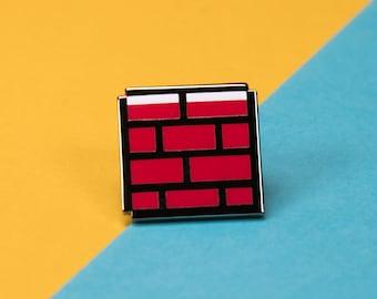 The Mario Brick Enamel Pin