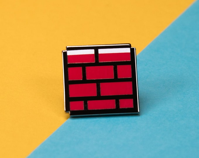 The Mario Brick Enamel Pin