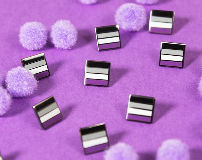 The Mini Asexual Flag Pin