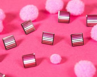 The Mini Lesbian Flag Pin