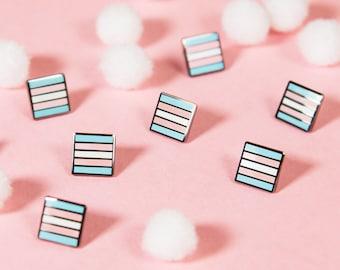 The Mini Trans Flag Pin