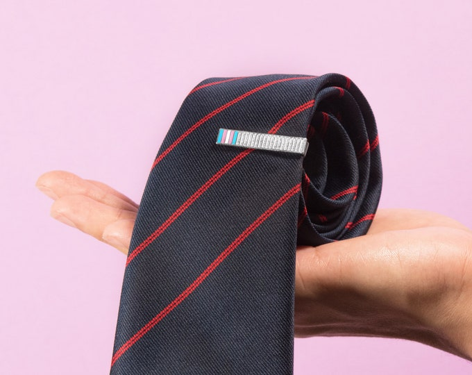 The Transgender Pride Tie Bar