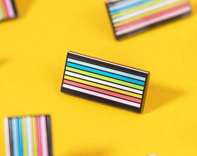 The Queer Pride Flag Enamel Pin