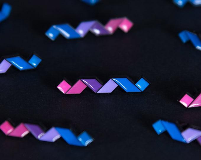 The Bisexual Twist Enamel Pin