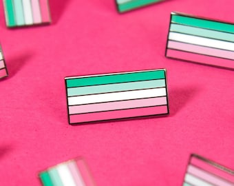 The Abrosexual Pride Flag Enamel Pin
