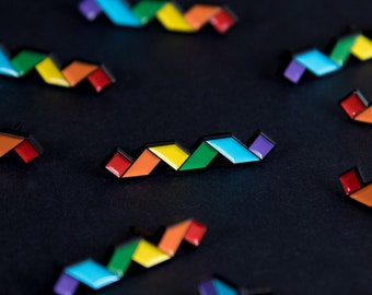 The Rainbow Twist Enamel Pin
