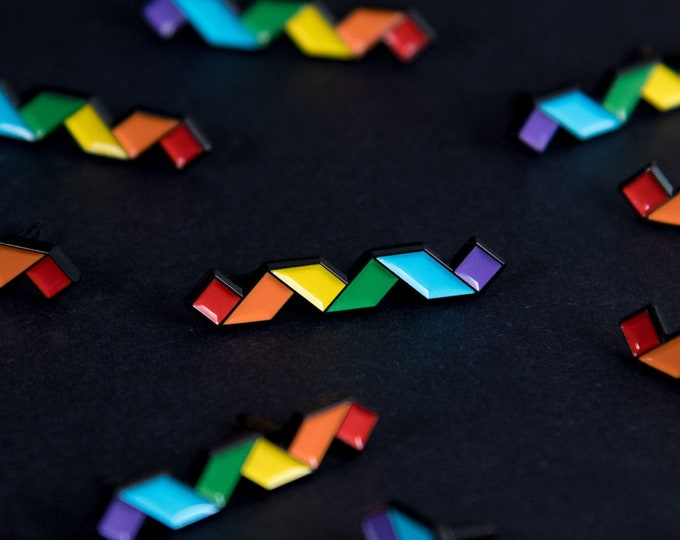 The Rainbow Twist Enamel Pin
