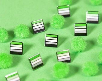 The Mini Aromantic Flag Pin