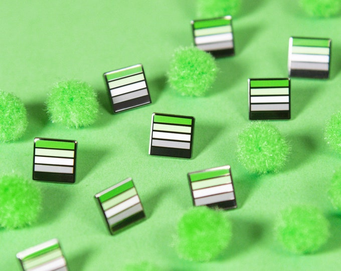 The Mini Aromantic Flag Pin
