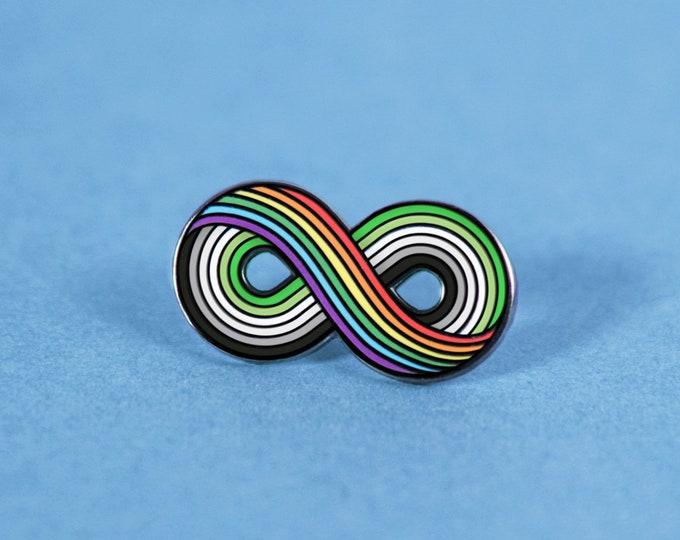 The Infinitely Aromantic Enamel Pin