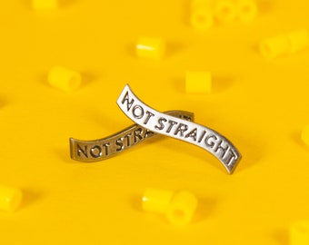 The 'Not Straight' Enamel Pin