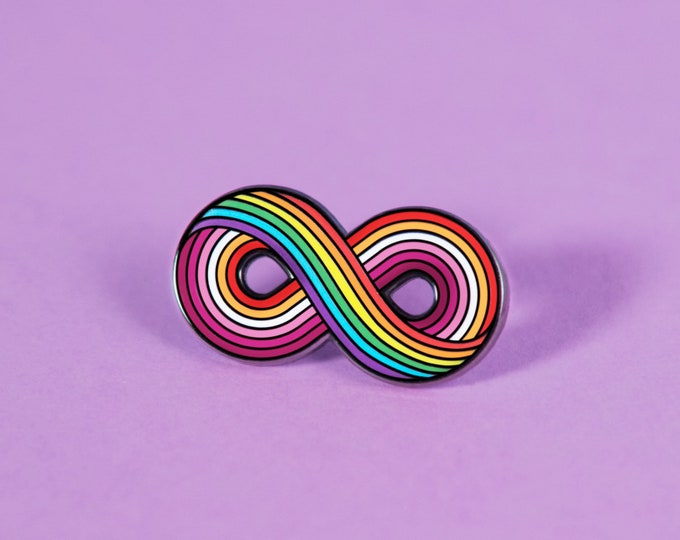The Infinitely Lesbian Enamel Pin - Community Lesbian Flag