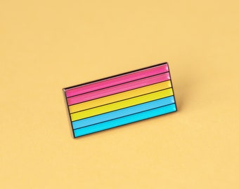 The Pansexual Flag Enamel Pin