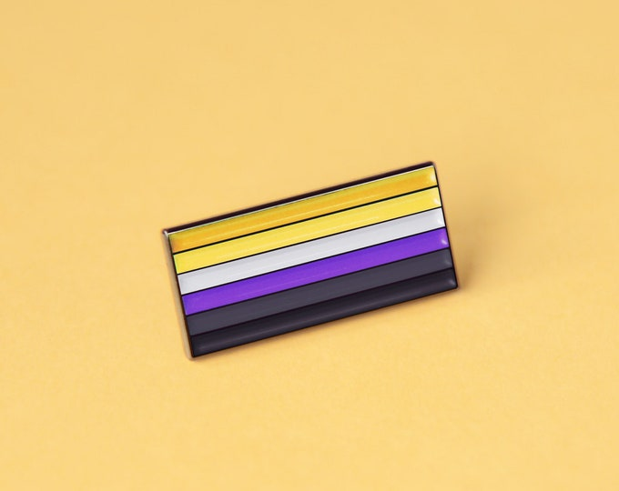 The Non-Binary Flag Enamel Pin