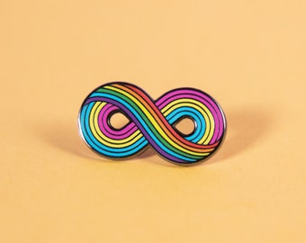 The Infinitely Pansexual Enamel Pin