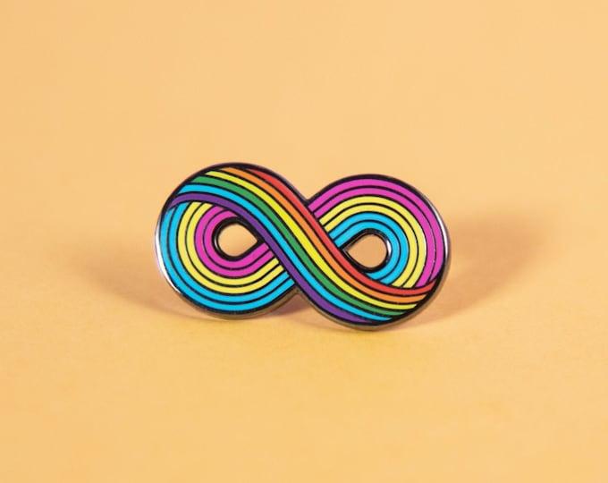The Infinitely Pansexual Enamel Pin