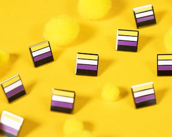 The Mini Non-Binary Flag Pin