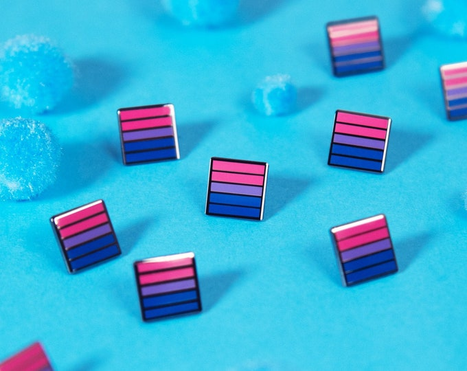 The Mini Bisexual Flag Pin