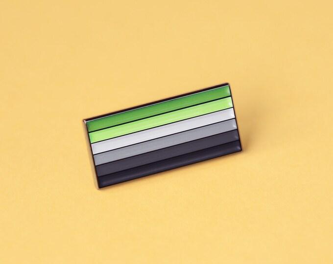 The Aromantic Flag Enamel Pin
