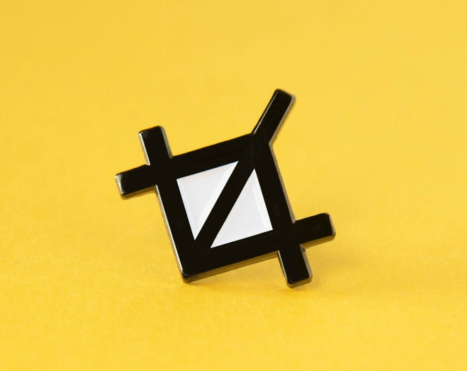 The Crop Tool Enamel Pin