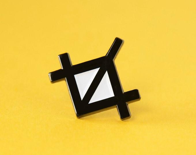 The Crop Tool Enamel Pin