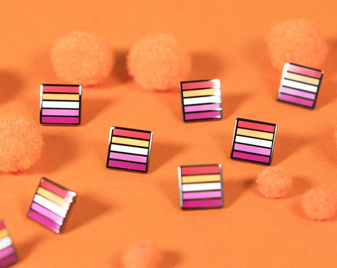 The Mini Community Lesbian Flag Pin