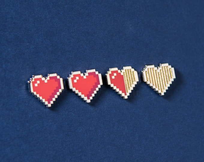 The Pixel Heart Pin