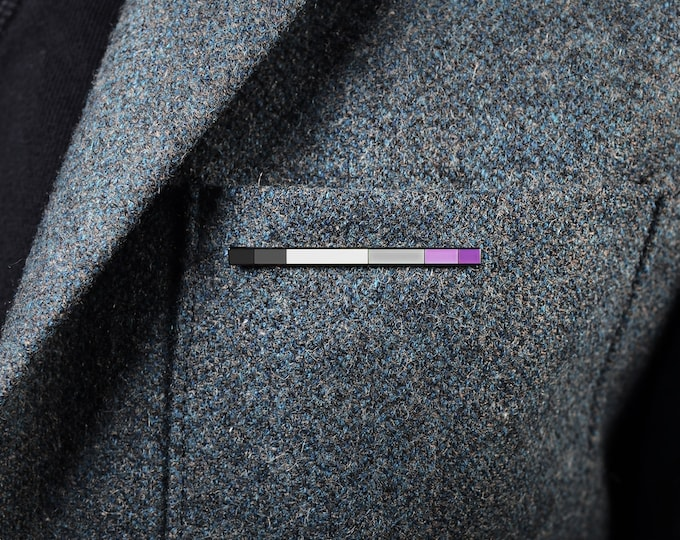 The Asexual Rod Enamel Pin