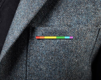 The Rainbow Rod Enamel Pin