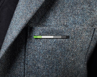The Aromantic Rod Enamel Pin