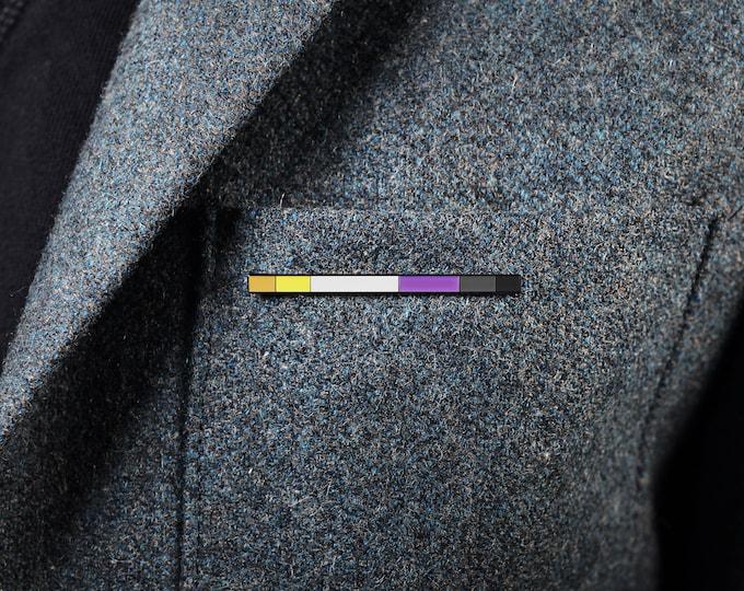 The Non-Binary Rod Enamel Pin