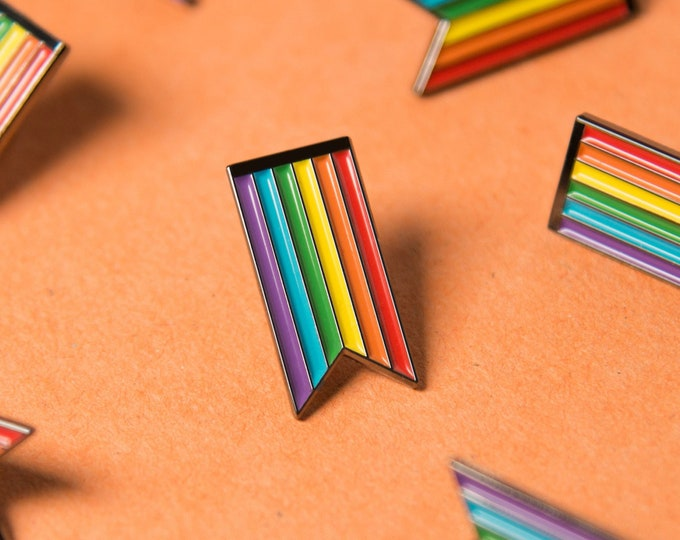 Featured listing image: The Rainbow Ribbon Enamel Pin