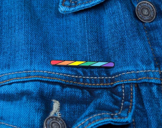 The Rainbow Twirl Pin