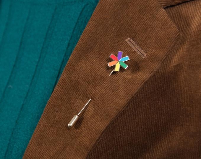 The Rainbow Asterisk Stick Pin