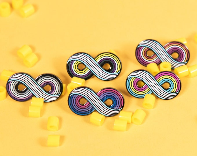 Infinitely Trans Enamel Pin (Variations)