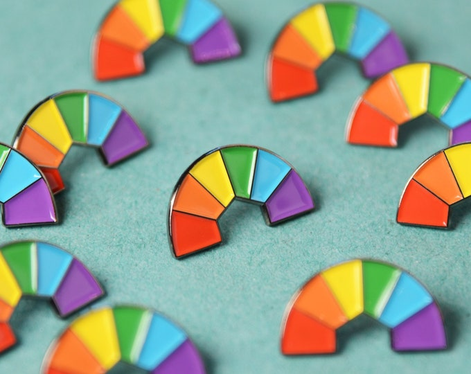 Featured listing image: The Rainbow Rays Enamel Pin