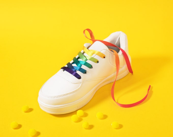 Rainbow Pride Shoelaces
