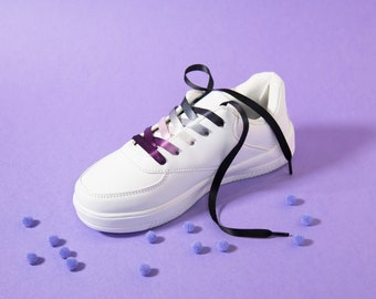 Asexual Pride Shoelaces