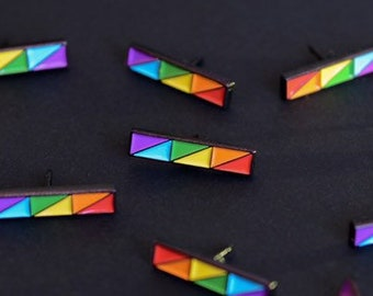 The Rainbow Bar Enamel Pin